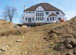 Site work around a large newly built home - 3 Brothers Excavating