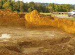Large building pad for new home construction - 3 Brothers Excavating