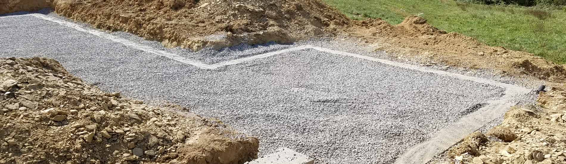 Building pad completion for new home construction
